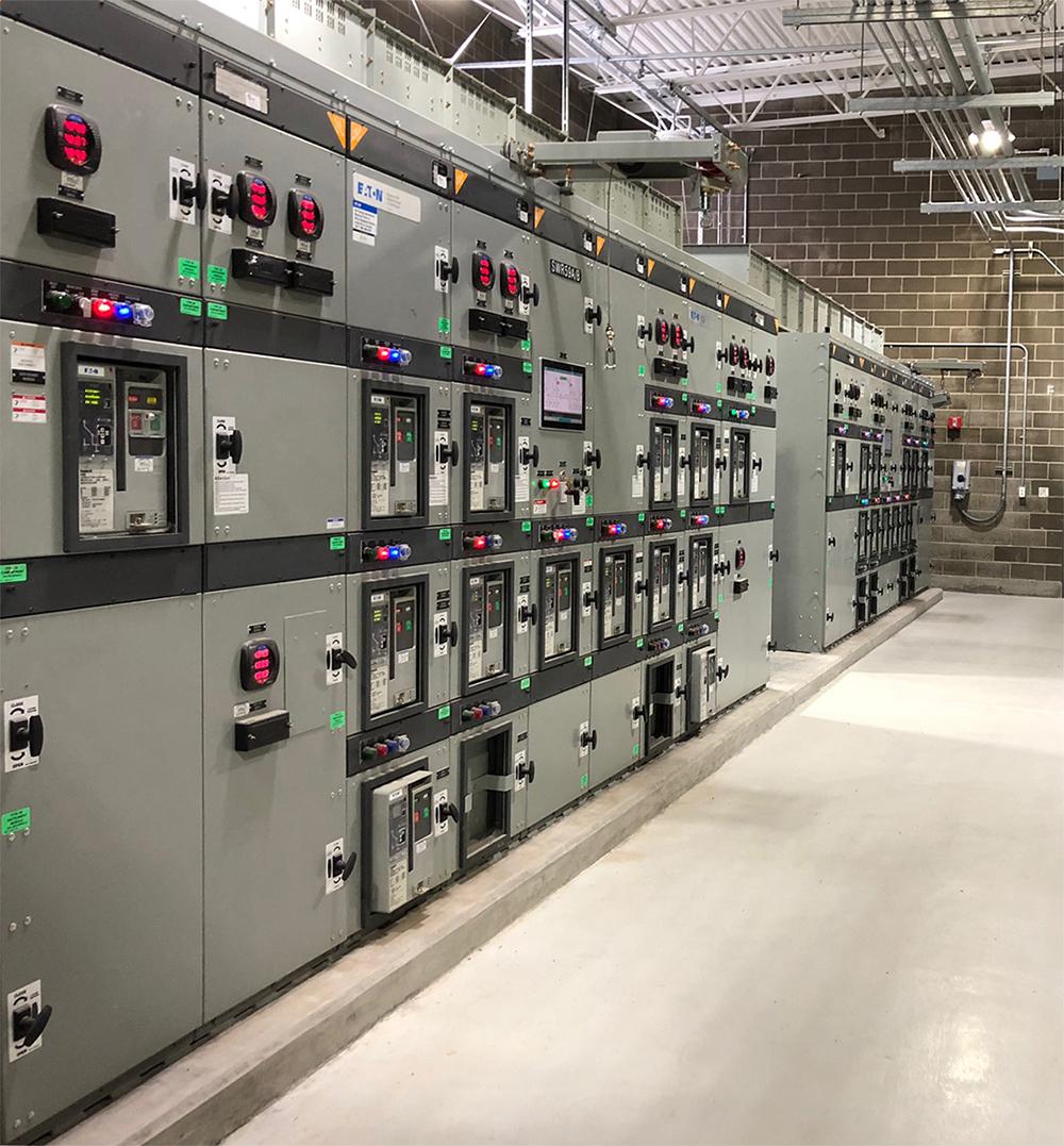 水处理厂电源阵容照片